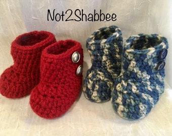 Crochet Baby Boots ~ Baby Booties ~ Baby Girl Boots ~ Baby Girl Boots ~ Baby Crochet Boots