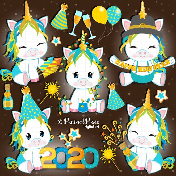 new year clipart new year unicorn clipart new years eve etsy new year clipart new year unicorn clipart new years eve unicorn clipart