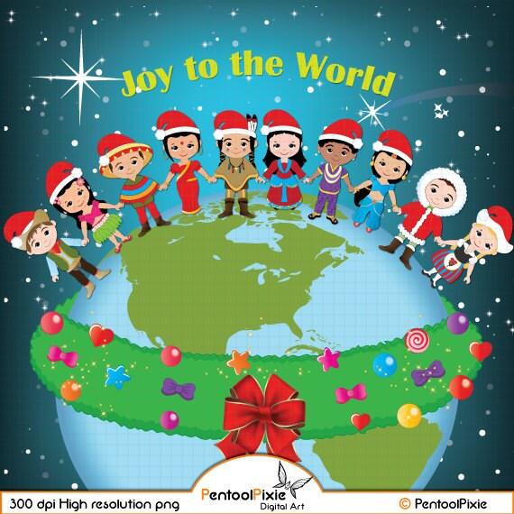 Christmas around the world clipart World Christmas Christmas | Etsy