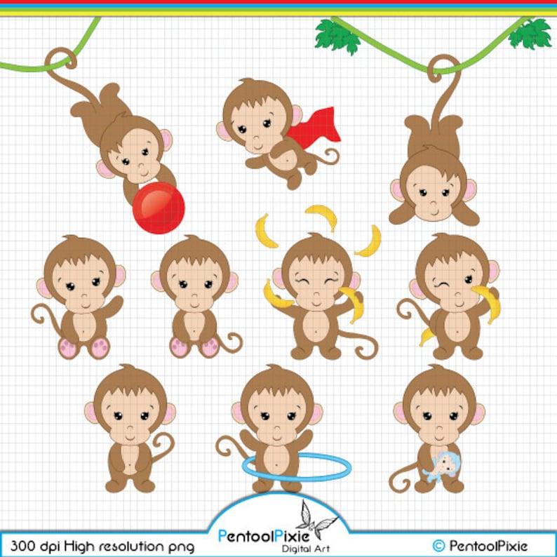 Monkey Clipart Cute Monkey Clipart Baby Monkey Clipart