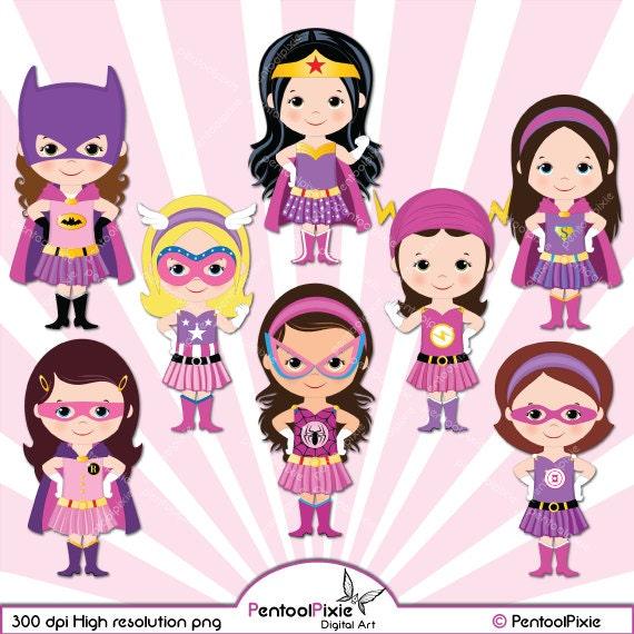 Super h ros filles clipart supergirl rose fille de etsy - Image super heros fille ...