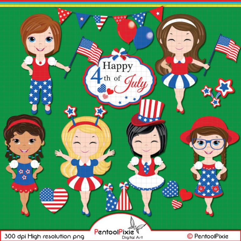739eecefa Fourth of July clipart Independence day clipart Patriotic