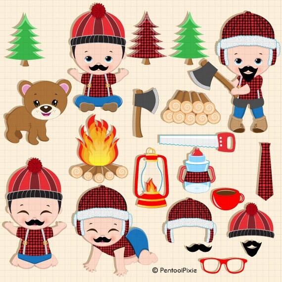 Lumberjack clipart Baby Lumberjack Camping clipart ...