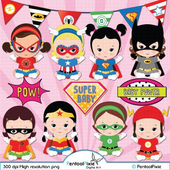 Superhero Babies Birthday   AMBillustrations.com