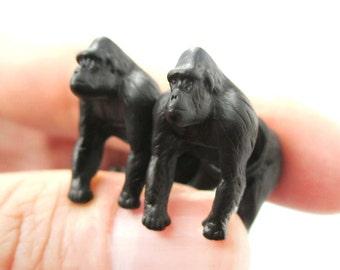 Gorilla 3D Pewter Animal