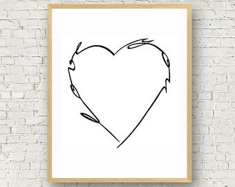 Love Wall Art, Black and White, Digital Art, Love You, Typography, Poster, Motivational Prints