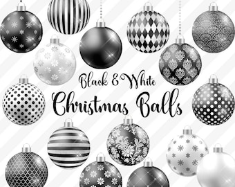 black and white christmas balls clipart christmas baubles christmas ornaments black and white gothic christmas tree decoration graphics