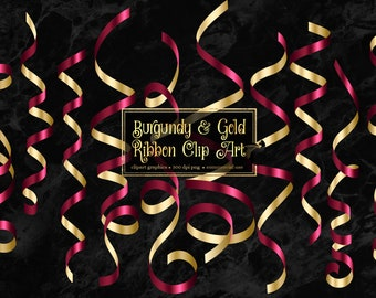 Royal Blue and Gold Ribbon Clip Art curling ribbons in png format instant download for commercial use