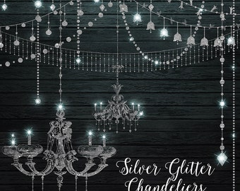 Chandeliers clipart and string lights png and vector clip etsy silver glitter chandeliers clipart digital chandelier clip art string lights party lights fairy lights png diamonds commercial use aloadofball Image collections