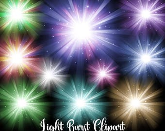 Light Bursts Clipart, digital overlays, sun burst png, star burst clip art, sparkling ray of light graphic, fireworks, divine light sunburst