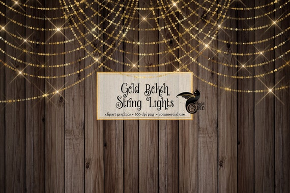 String Lights Washi Tape Gold Glam Paint Strokes Clipart Bokeh Overlays Gold Blue Pink Glitter Brush Stroke Clip Art Glam PNG Overlays