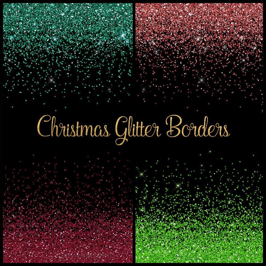 Weihnachten Glitter Grenzen Cliparts rot und grün glitter Png | Etsy