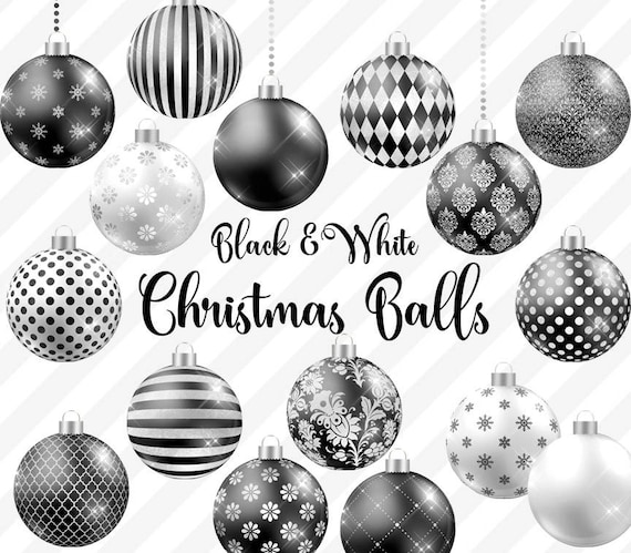 Christmas Balls Clipart Black And White.Black And White Christmas Balls Clipart Christmas Baubles Christmas Ornaments Black And White Gothic Christmas Tree Decoration Graphics