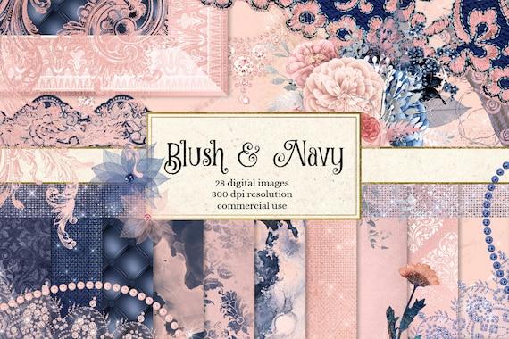 Navy and Blush Pen Wrap File Set