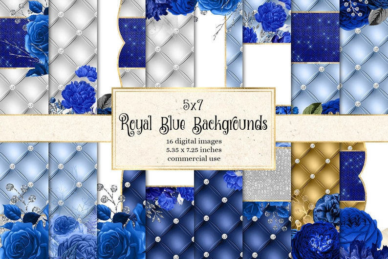 5x7 Royal Blue Floral Backgrounds Diamond Luxury Tufted Digital Paper Wedding Invitation Backgrounds Luxury Textures Navy Blue Roses
