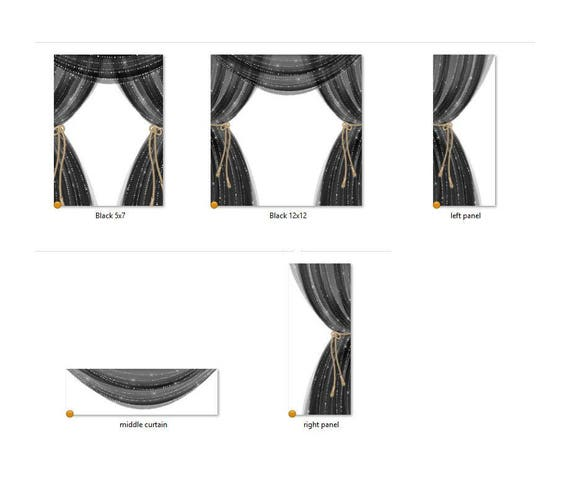 Sheer Black Curtains Clipart Diamond Sparkle Stage Theater For Invitations Planner Stickers PNG File