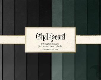 Chalkboard Digital Paper, Chalkboard Textures, printable scrapbook paper, instant download, invitations, chalk backgrounds commercial use