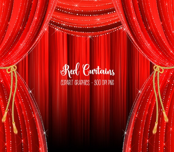 Red Curtains Clipart Curtain Backdrop Clip Art Graphics