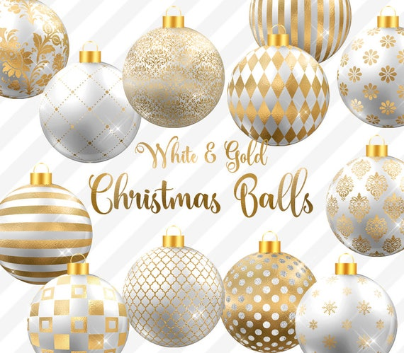 image 0 - White And Gold Christmas Decorations