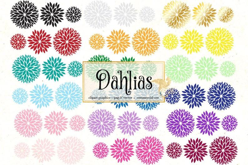 0d9a09218772 Dahlia Clipart dahlia vectors eps svg rainbow flowers blush