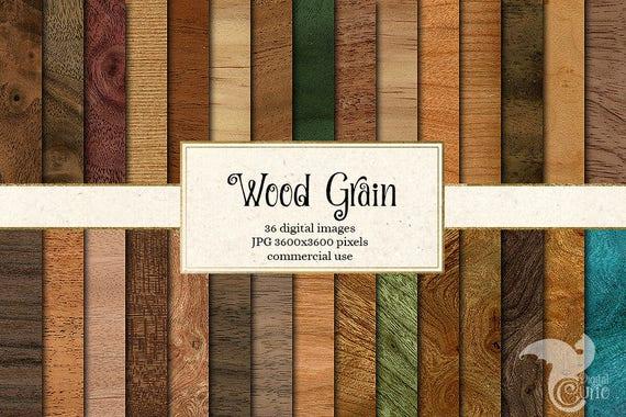 Wood Grain Textures Digital Paper Rustic Wood Scrapbook Paper Pack Wood Backgrounds Wood Digital Printable Scrapbook Paper Download