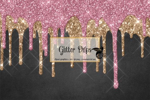 Glitter Drips Clipart Sparkling Glitter Overlays Glitter