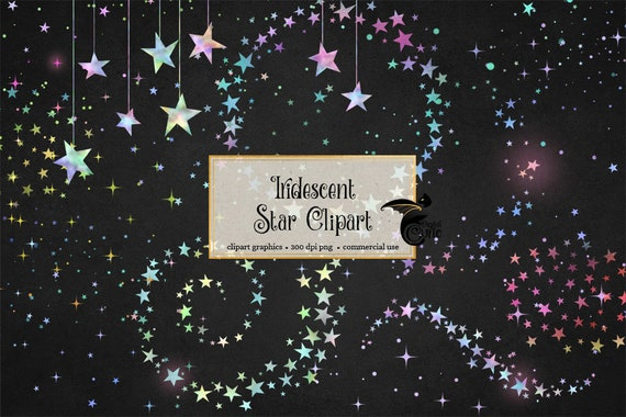 Iridescent Stars Clipart Foil Stars Clip Art Seamless Star Etsy Awesome Star Patterns