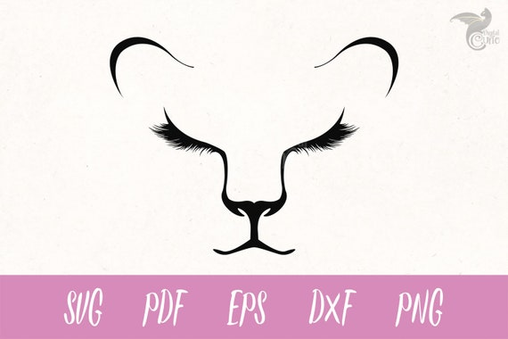 Lioness Face Svg Lion Svg Eyelashes Svg Lion Cub Clipart Etsy