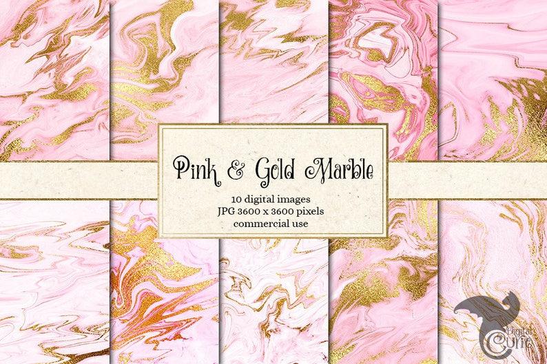 Carta Digitale In Marmo Rosa E Oro Marmo Rosa Texture In Etsy