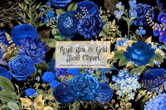 عارض قرض مارس Blue Gold Floral Frames Clipart Watercolor Clipart Wedding Invitation Natural Soap Directory Org