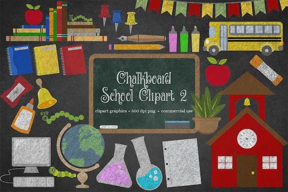 Chalkboard School Clipart 2 Back to School Clipart School ...