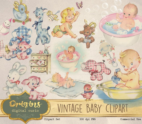 vintage baby clipart antique baby shower clip art old rh etsy com vintage baby carriage clipart vintage baby ballerina clipart