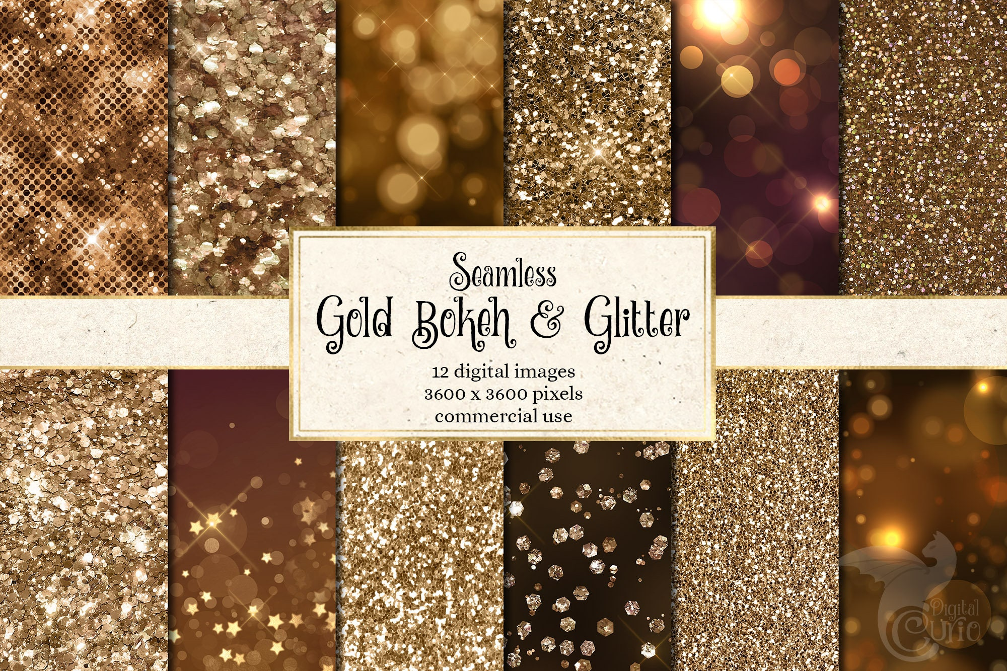 Scrapbooking bekeh textures photography bokeh overlays 12 H Res 300 DPI backgrounds Bokeh Digital Paper Printable Gold and Silver