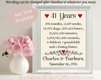50th Anniversary 50 Years Together Years Months Weeks Days Etsy
