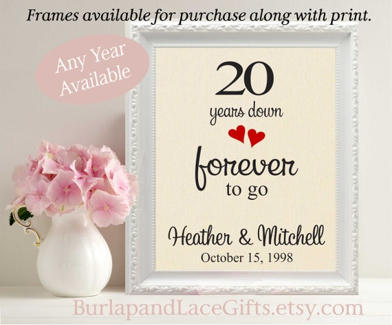 20th Wedding Anniversary Gift To Wife 20th Anniversary Gift Etsy