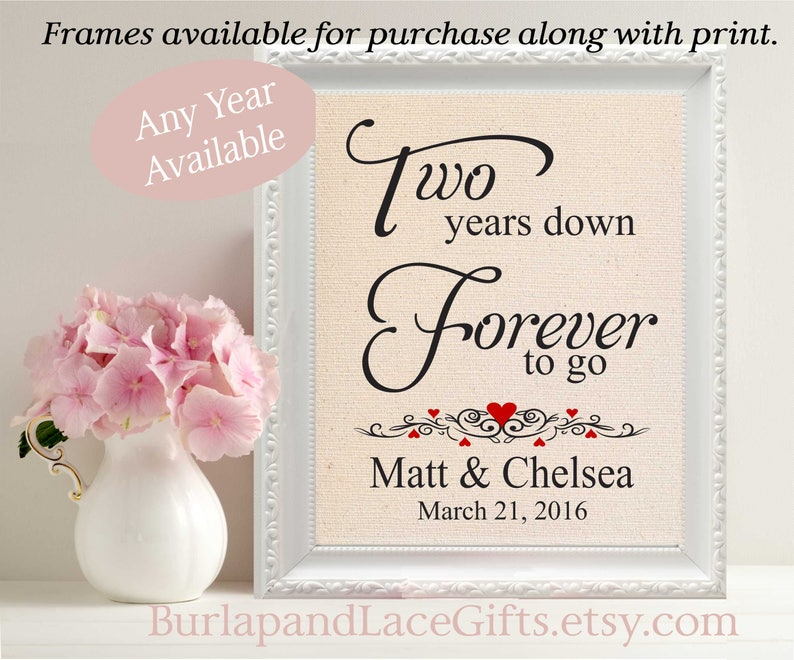 2nd Anniversary Cotton Anniversary 2 Years Down 2nd Wedding Etsy