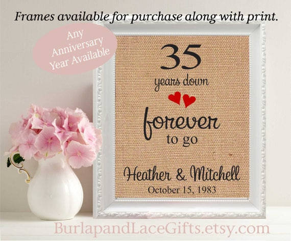 Wedding Anniversary 35 Years Gifts: Items Similar To Anniversary Gift To Wife 35th Anniversary