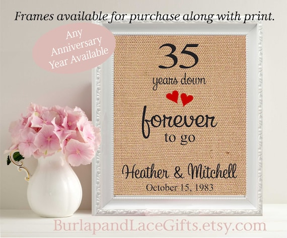 35 Year Wedding Anniversary Gifts: Items Similar To Anniversary Gift To Wife 35th Anniversary