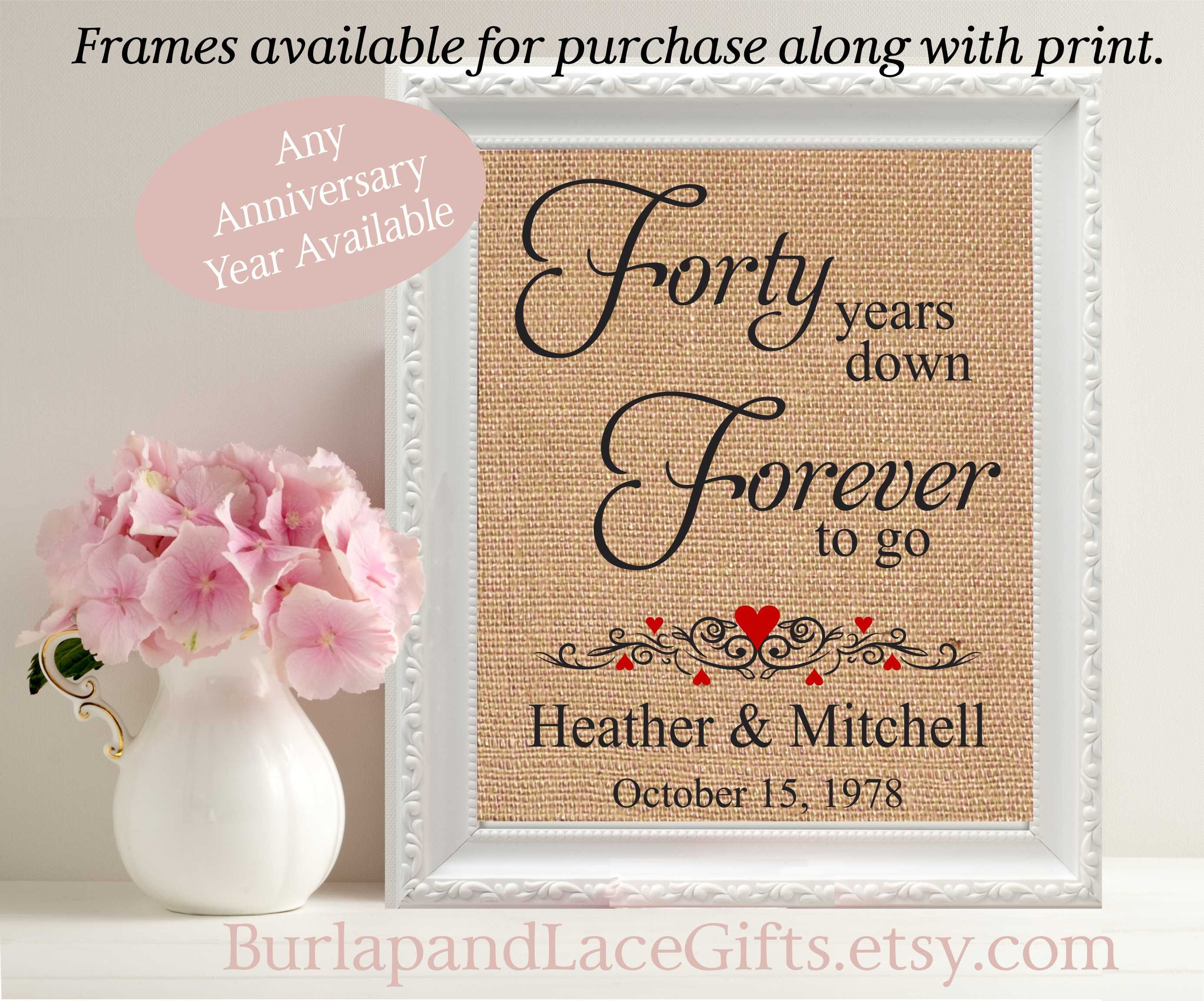 Gift To Husband On Wedding Anniversary: 40 Year Wedding Anniversary Gift Wife Gift To Husband Gift