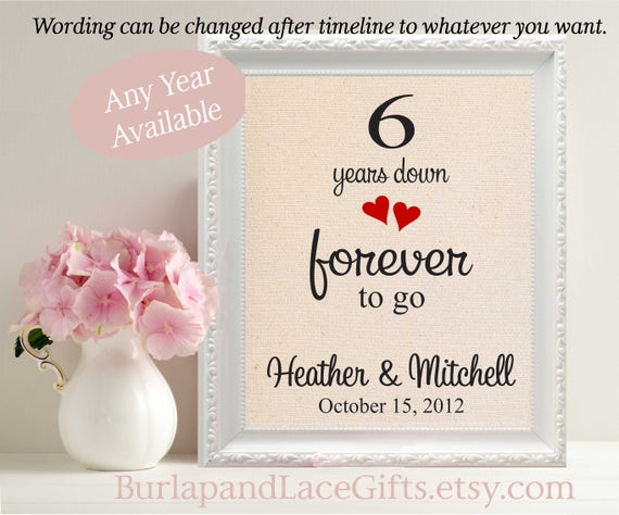 Gift To Husband On Wedding Anniversary: Items Similar To 6th Wedding Anniversary Gift For Wife