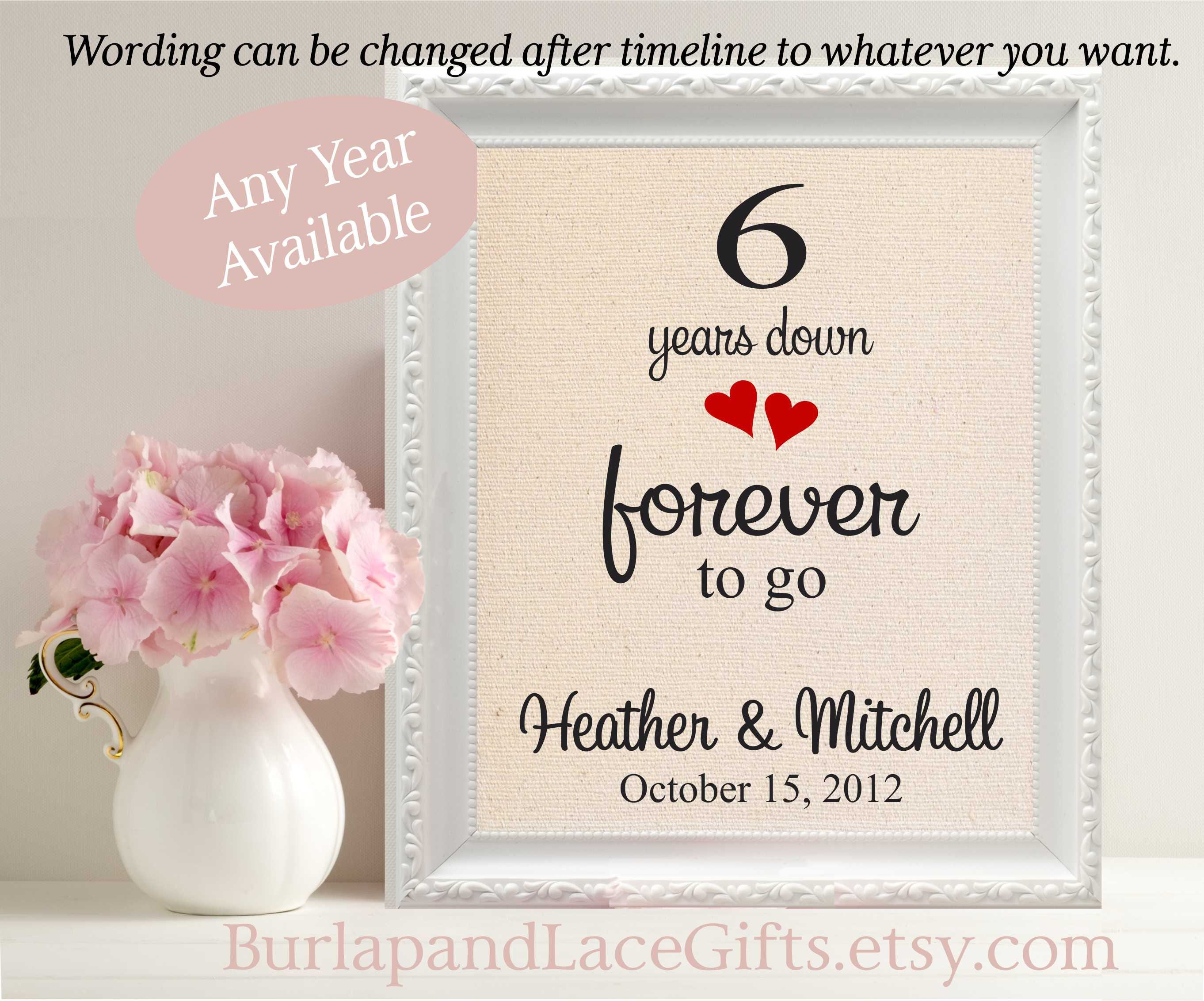 Sixth Wedding Anniversary Gift: 6th Wedding Anniversary Gift For Wife Gift For Husband 6