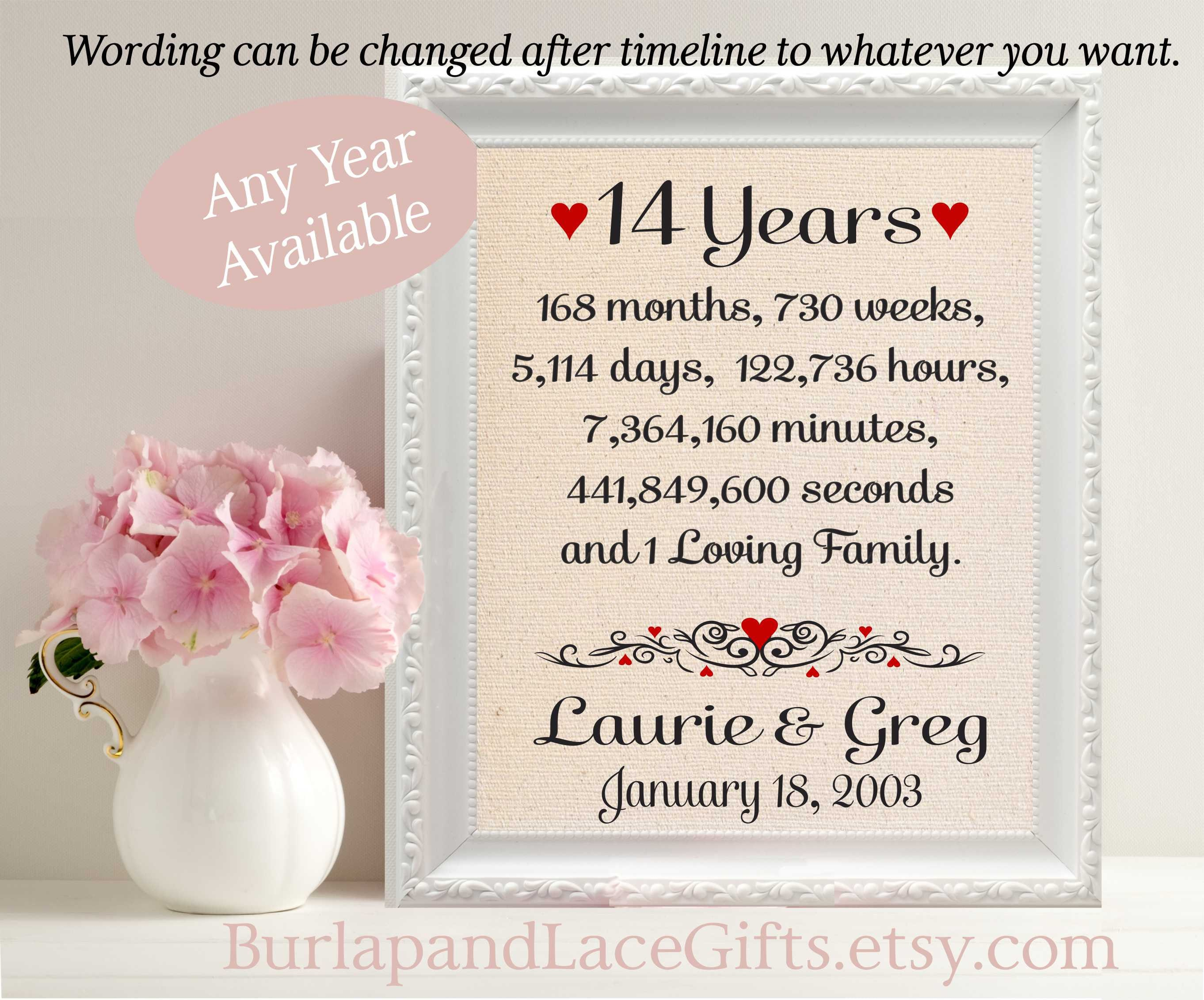 What Is The Gift For 14th Wedding Anniversary