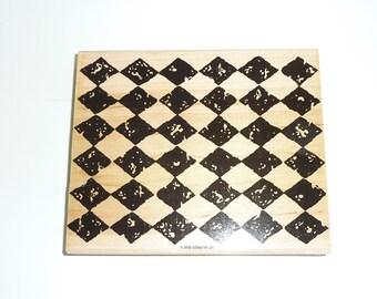 Background Harlequin rubber stamp