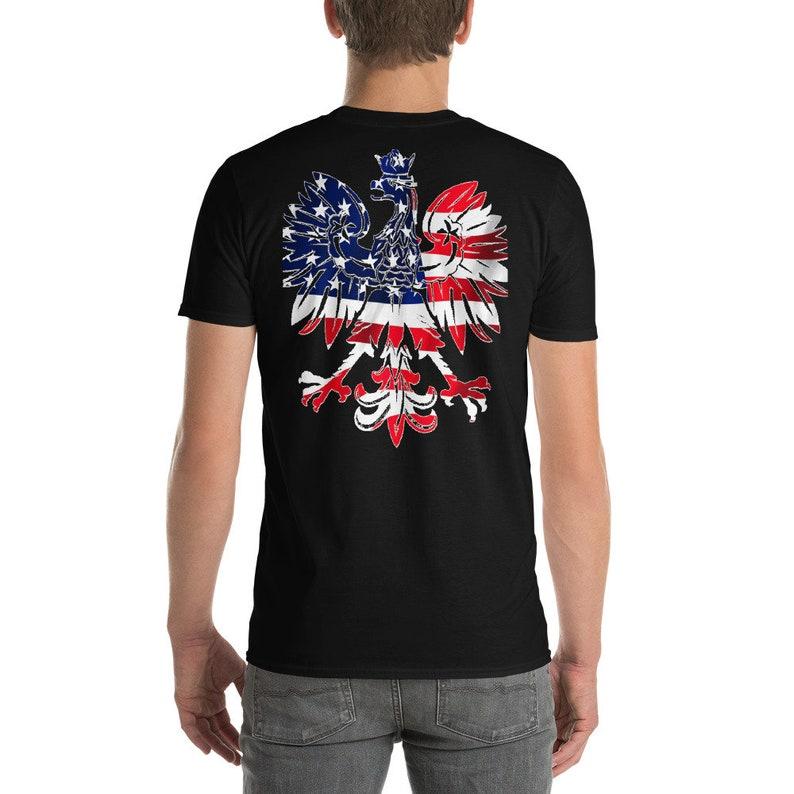 30af16b70237 Polish Eagle American Flag Dyngus Day Shirt Poland Pride Sexy | Etsy