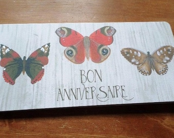 Happy birthday Butterfly handmade 21cm x 10cm