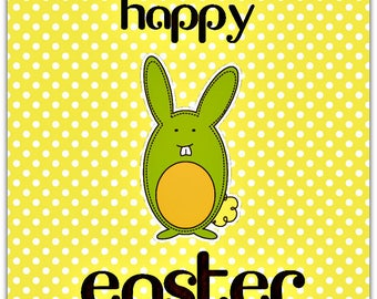 Happy Easter card with envelope 15cm x 15cm
