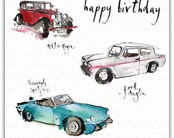 Happy Birthday 15cm x 15cm greeting card