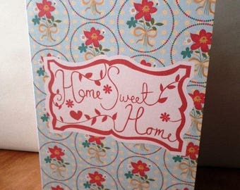 Home Sweet Home made handmade 21cm x 15cm greeting card