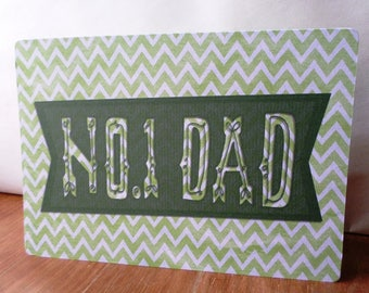 Greeting card no. 1 DAD - 21 cm x 15cm father's day or birthday party