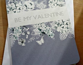Greeting card Valentine's day - Be my Valentine - 15cm x 21cm